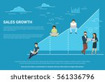 business graph growth concept... | Shutterstock .eps vector #561336796