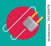electric plug. flat icon