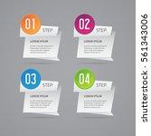 vector infographic design.... | Shutterstock .eps vector #561343006