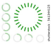 green round badge of loading