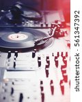 vinyl record player turn table... | Shutterstock . vector #561347392