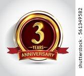 3rd golden anniversary logo ... | Shutterstock .eps vector #561349582
