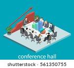 business meeting in an office...   Shutterstock .eps vector #561350755