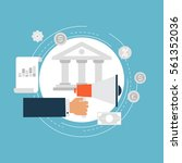 e commerce and m commerce flat... | Shutterstock .eps vector #561352036