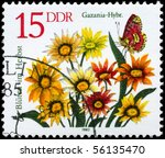 gdr   circa 1982  a stamp shows ... | Shutterstock . vector #56135470