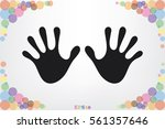 stop hands icon vector | Shutterstock .eps vector #561357646