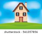 house on the hill.   Shutterstock .eps vector #561357856