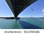 bungy jump at harbour bridge ...   Shutterstock . vector #561358186