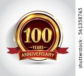 100th golden anniversary logo ... | Shutterstock .eps vector #561358765