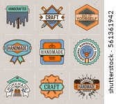 handmade craft insignias... | Shutterstock .eps vector #561361942
