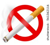 no smoking area label. detailed ... | Shutterstock .eps vector #561362116