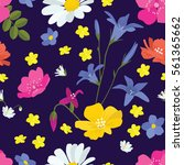seamless floral wallpaper with...   Shutterstock .eps vector #561365662