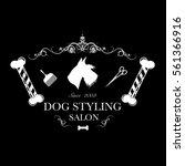 logo for dog hair salon ...   Shutterstock .eps vector #561366916