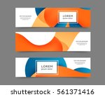 set of web banner templates for ... | Shutterstock .eps vector #561371416