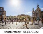 happy summer day and  children... | Shutterstock . vector #561373222