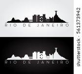 rio de janeiro skyline and... | Shutterstock .eps vector #561373942