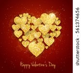 vector happy valentine's day... | Shutterstock .eps vector #561374656