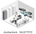 isometric flat 3d isolated... | Shutterstock .eps vector #561377572