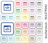 programming code color flat... | Shutterstock .eps vector #561379042