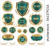 golden sale shields laurel... | Shutterstock .eps vector #561379216