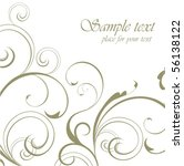 floral background | Shutterstock .eps vector #56138122