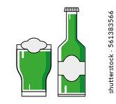 st. patrick's day  illustration ... | Shutterstock .eps vector #561383566