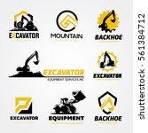 logo collection set of backhoe... | Shutterstock .eps vector #561384712