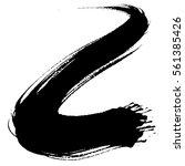 paint brush. curved brush... | Shutterstock .eps vector #561385426