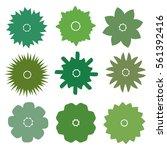 vector flower set. decorative... | Shutterstock .eps vector #561392416