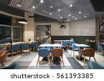 interior of a modern restaurant ... | Shutterstock . vector #561393385