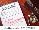 sign low testosterone in a... | Shutterstock . vector #561396376