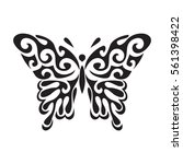graphic icon of butterfly.... | Shutterstock .eps vector #561398422