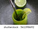 Green And Yellow  Lime Citrus...