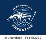 snowboarding freestyle logo  ...   Shutterstock .eps vector #561403312