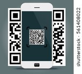 qr codes decoding with a... | Shutterstock .eps vector #561408022