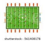 table football vector flat... | Shutterstock .eps vector #561408178