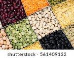 pulses food background ... | Shutterstock . vector #561409132