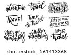 Inscription Let's Go To Travel  ...