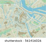 vector city map of amsterdam... | Shutterstock .eps vector #561416026