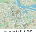 vector city map of amsterdam... | Shutterstock .eps vector #561416035