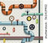 pipeline. vector flat design... | Shutterstock .eps vector #561419902