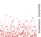 red hearts confetti. scatter... | Shutterstock .eps vector #561424906