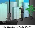 successful business man phone... | Shutterstock .eps vector #561435802