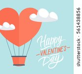 happy valentine's day greeting... | Shutterstock .eps vector #561438856