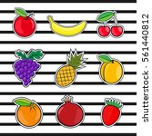collection fruits icons in a... | Shutterstock . vector #561440812