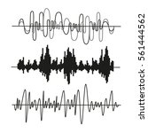 sound waves set  isolated ... | Shutterstock .eps vector #561444562