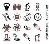biohazard  toxic icon set | Shutterstock .eps vector #561446185