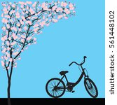 one bicycle parking under... | Shutterstock .eps vector #561448102