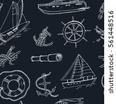 collection of vector yachting... | Shutterstock .eps vector #561448516