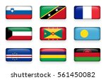 set of world flags rectangle... | Shutterstock .eps vector #561450082